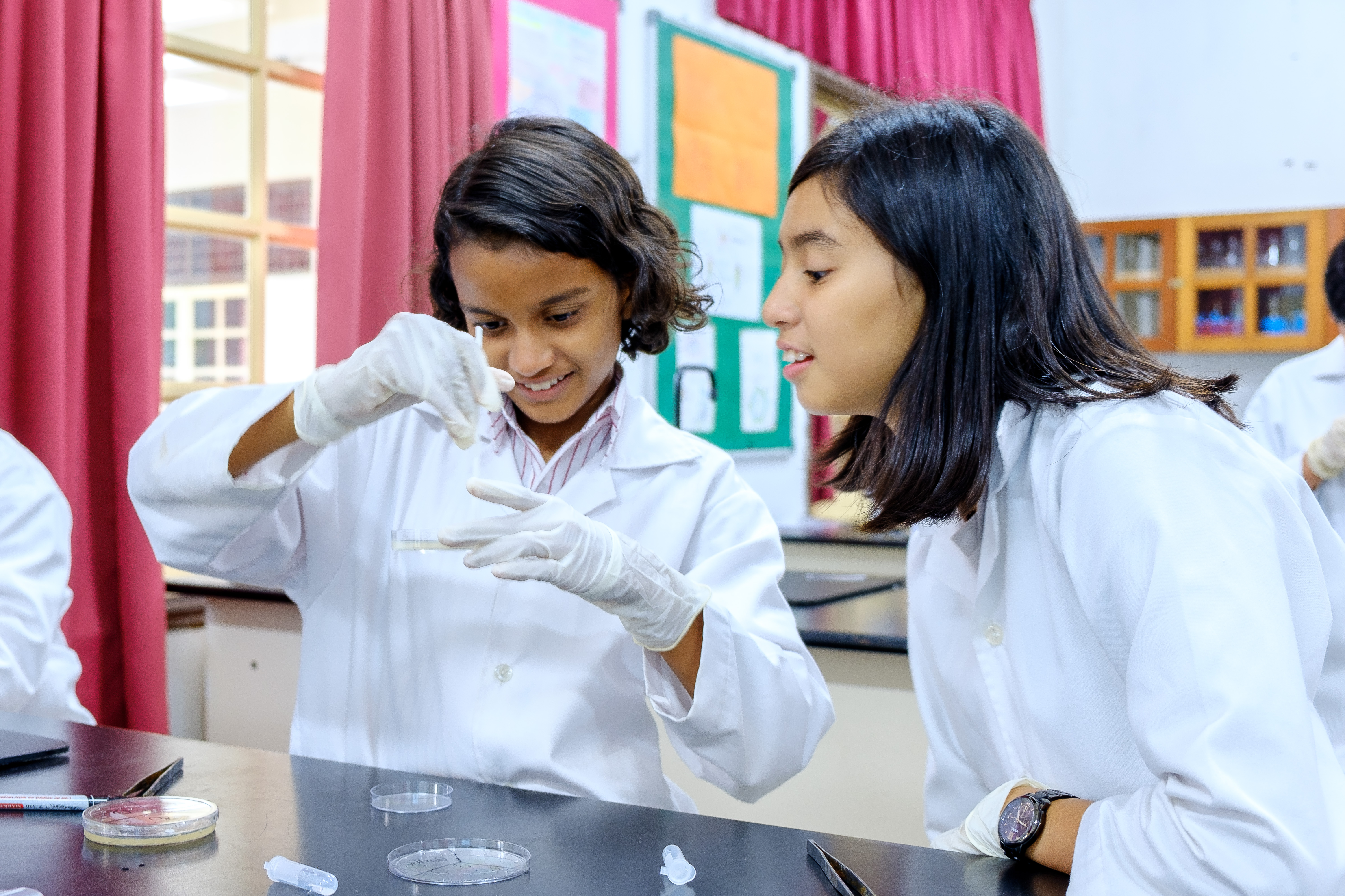 Students conducting a science experiment